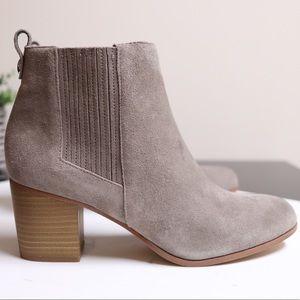 🌸BOGO INC Fainn Stacked Heel Suede Chelsea Boots